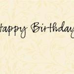 生日。快樂!