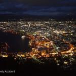 GF1 拍夜景。北海道函館百萬夜景