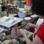 台南小吃:阿瑞意麵餛飩湯。福榮小吃店 (台南西門市場)